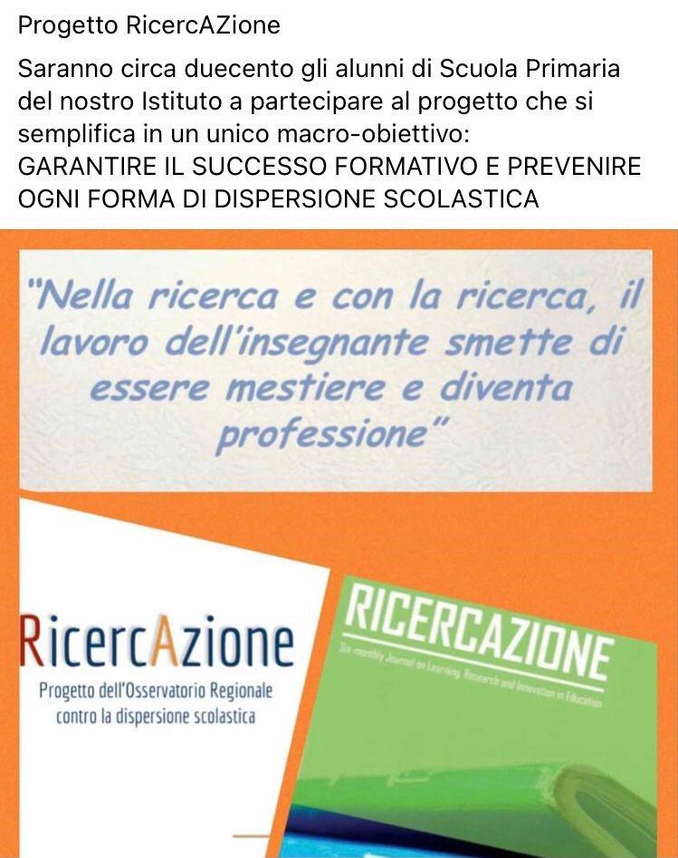 """Progetto """"RicercAZione"""" 2020-2021"""