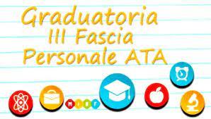Pubblicazione graduatoria A.T.A.  III Fascia Definitiva triennio 2021/22 – 2022/23 – 2023/24.